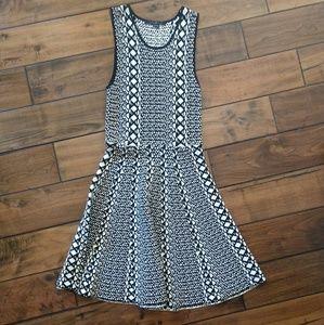 Stretch Knit A-Line Flirty Dress